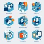 Customer Service Concept Set — Stock Vector #62207713