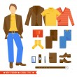 Business Man Clothes Icons — Stock Vector #62207979