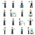 Waiter Man Icon Flat — Stock Vector #62208149