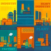 Industry poster set — Stock Vector