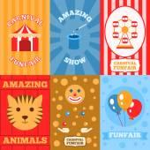 Amusement Park Poster — Stock Vector