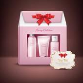 Cosmetics Gift Box — Stock Vector