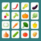 Vegetables Icon Flat — Stock Vector
