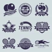 Tennis Label Black — Stock Vector