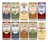 Food retro banners — Vettoriale Stock