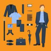 Business Man Clothes Set — ストックベクタ