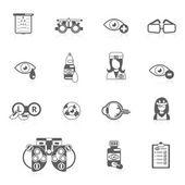 Oculist black icons — 图库矢量图片