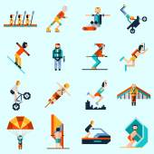 Extreme Sports Icons — Stock Vector