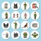 Border Guard Icon Flat — Stock Vector