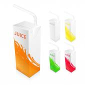 Juice Box Package — Stock Vector