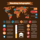 Smoking Infographics Set — Stock Vector