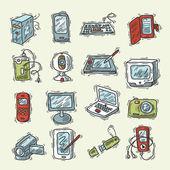 Digital Device Set — Stock Vector