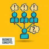 Job interview business sketch — Stock Vector