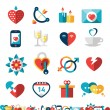 Dating Icon Set — Stock Vector #62545605