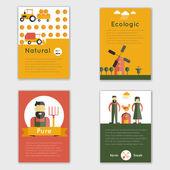 Farm Fresh Brochure — Stock Vector