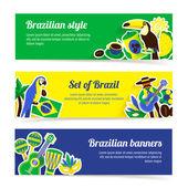 Brazil Banner Set — Stock Vector