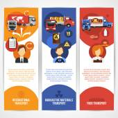 Truck Banners Set — Vettoriale Stock