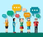 Social people concept — Vetor de Stock