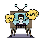 Tv News Poster — Stock Vector