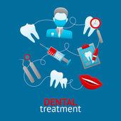 Dental Design Concept — Stock Vector