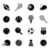 Sport icons set black — Stock Vector