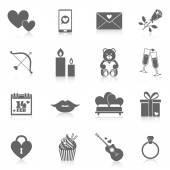 Romantic Icon Set — Wektor stockowy