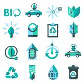 Ecology And Recycling Icons — Stock Vector