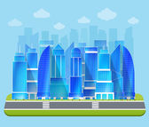 Office industrial cityscape — Stock Vector