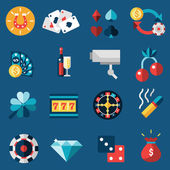 Casino Icons Set — Stock Vector