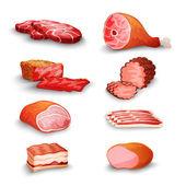 Fresh Meat Set — Stock Vector