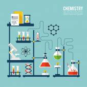 Chemistry Background Template — Stock Vector