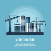 Construction Industry Poster — Stock Vector