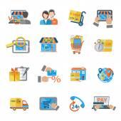 Shopping E-commerce Icon — Stock Vector