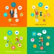 Family Icons Flat — Stock Vector #62627813