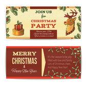 Christmas banners horizontal — Stock Vector