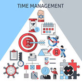 Time management concept — Stock Vector