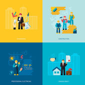 Construction Professions Set — Stockvector