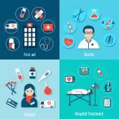 Medical Flat Set — Stock Vector
