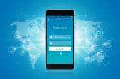 Smartphone Social Network — Stock Vector