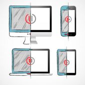Digital Devices Set — Stock Vector