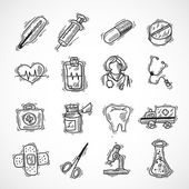 Medical And Healthcare Icons — Stock Vector