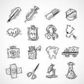 Iconos de medico y salud — Vector de stock