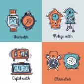 Clock Design Concept — Stock Vector