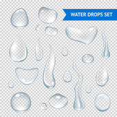 Water Drops Realistic — Stock Vector