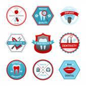 Dental Emblem Set — Vector de stock