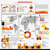 Oil Industry Infographics — Stock Vector