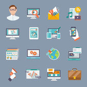 Seo Internet Marketing Icon — Stock Vector