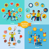 Disabled Sport Set — Stock Vector
