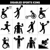 Disabled Sports Icons — Stock Vector