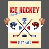 Ice Hockey Poster — Stock Vector